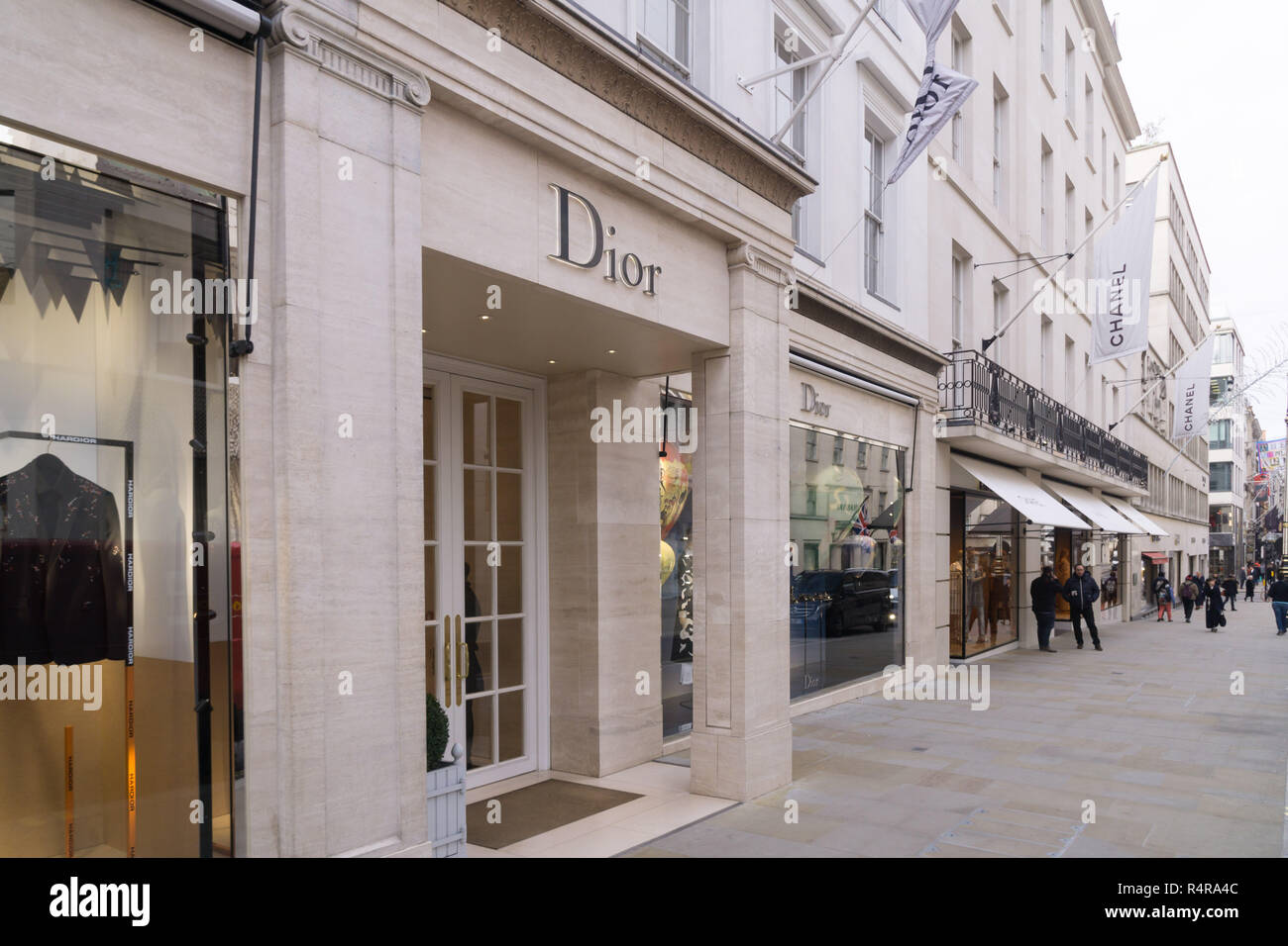 The Dior Shop on New Bond St, Mayfair, London - Stock Image