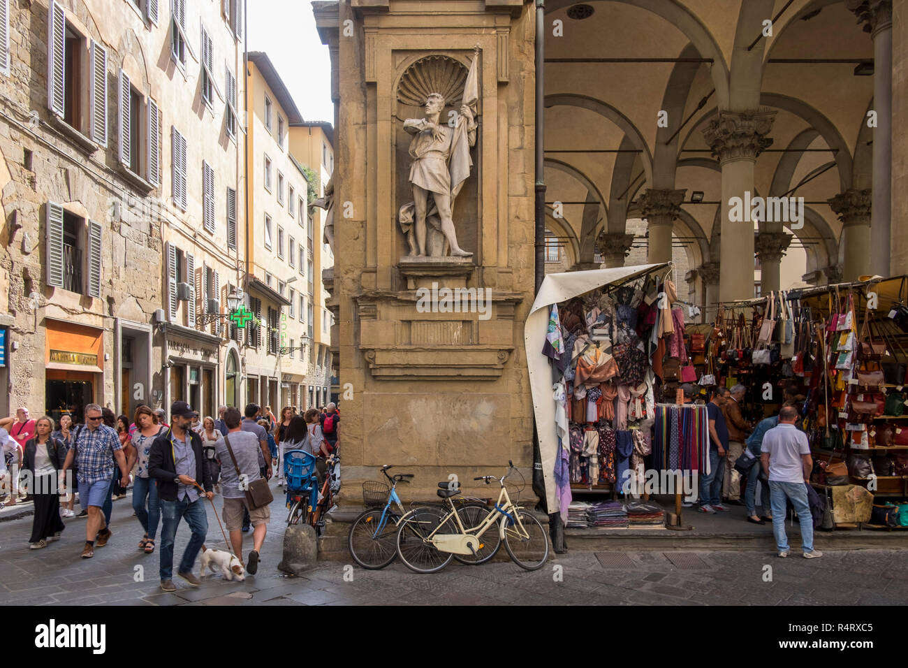 Mercato Nuovo, or the Mercato del Porcellino, Florence, Italy. - Stock Image
