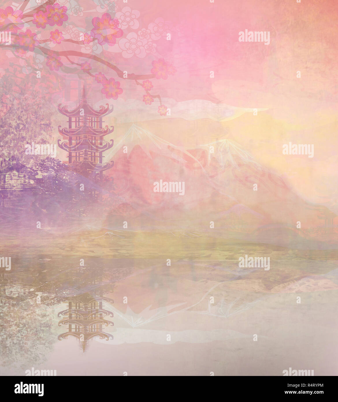Abstract Asian Landscape Stock Photo 226720108 Alamy