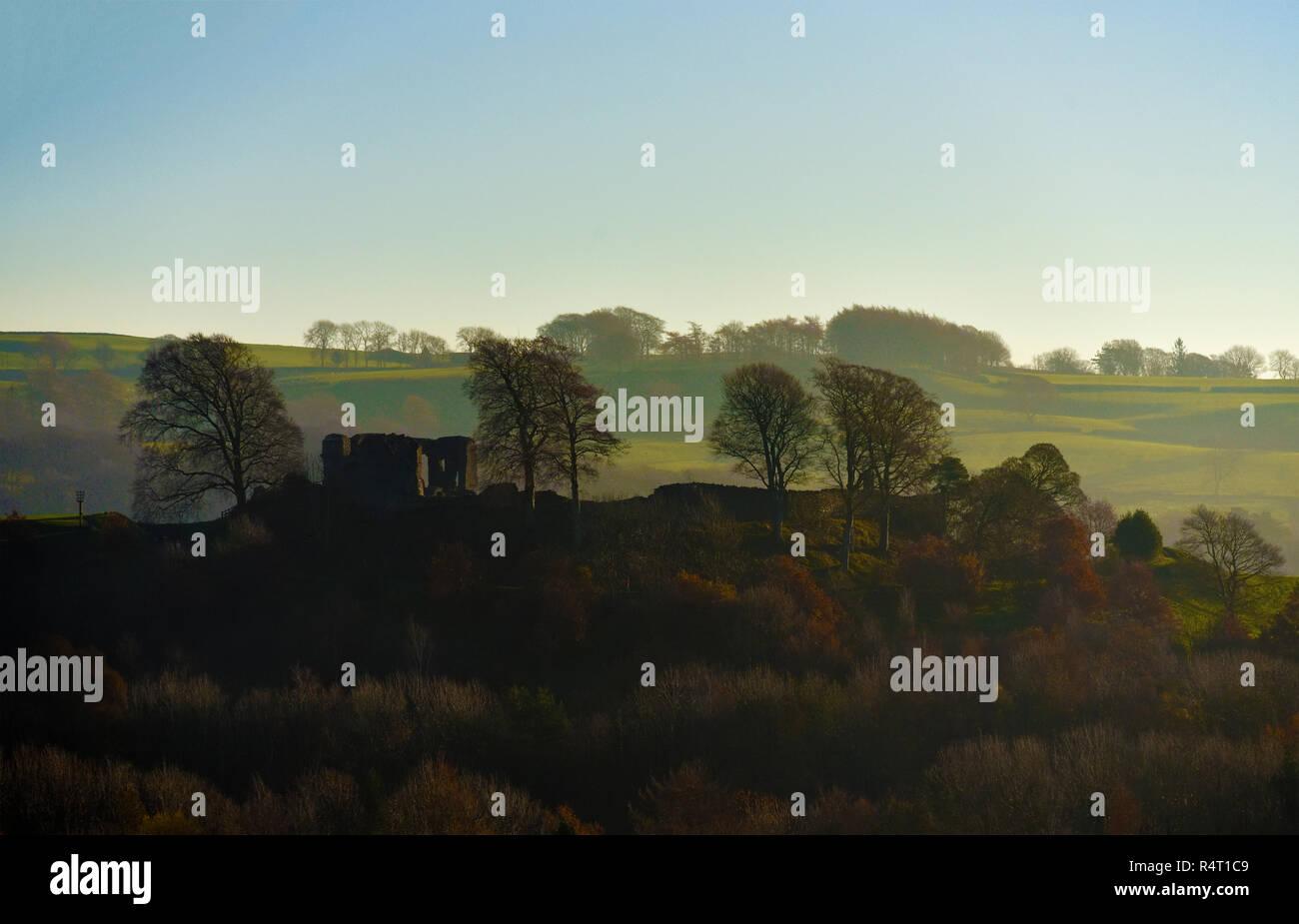 Kendal Castle, Kendal, Cumbria, England, United Kingdom, Europe. - Stock Image