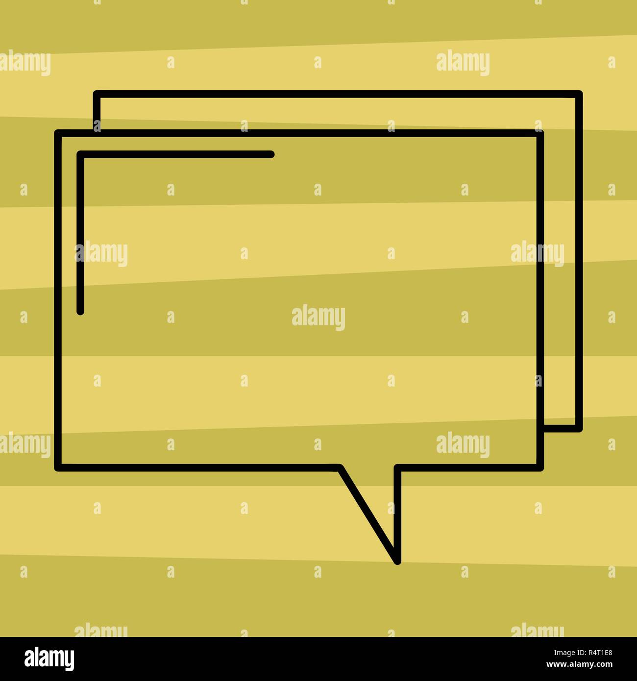 Design Business Concept Empty Template Copy Space Text For Ad Website Isolated Rectangular Outline Transparent Comic Speech Bubble Vector Blank