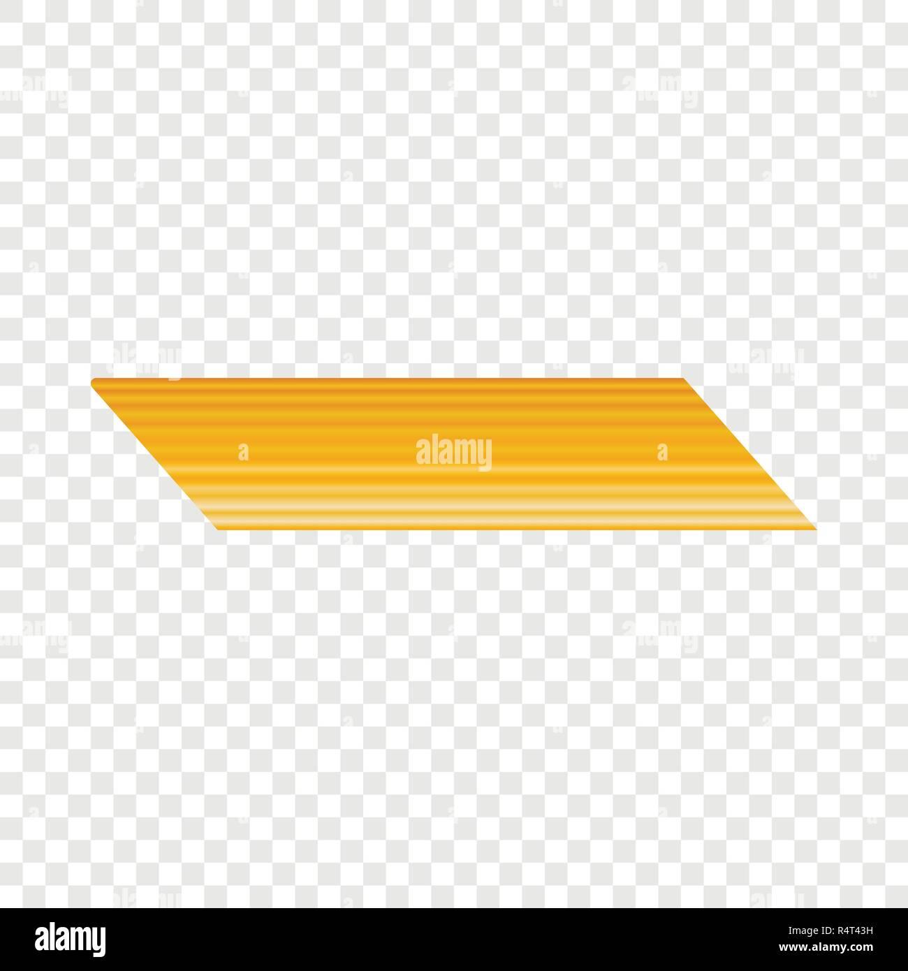 Penne rigate pasta icon. Realistic illustration of penne rigate pasta vector icon for on transparent background Stock Vector