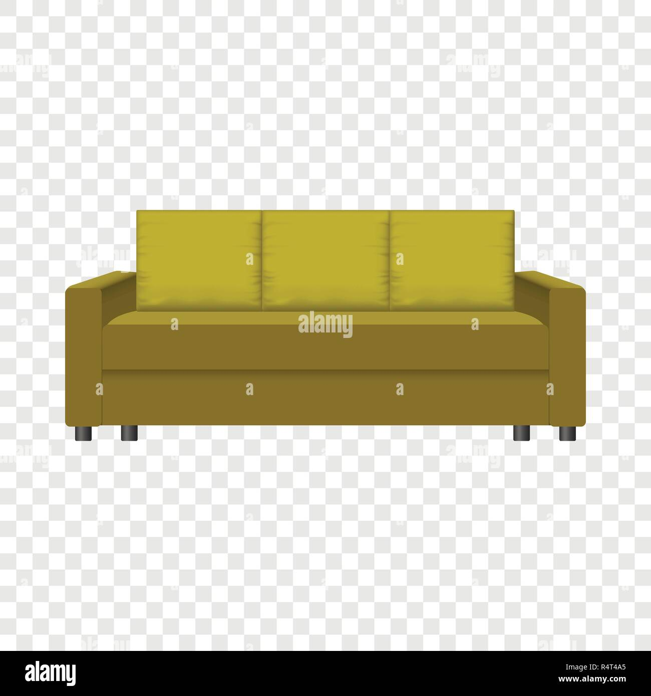 Retro Sofa Mockup Realistic Illustration Of Retro Sofa Vector