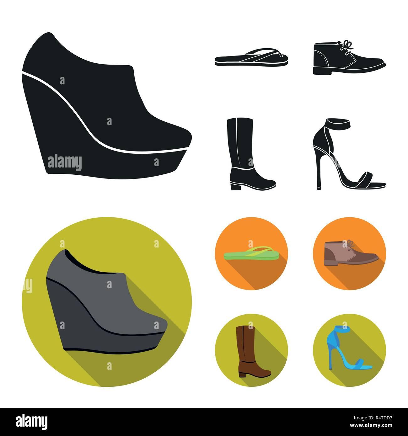 Black Leather Flip Flops Stock Photos Black Leather Flip Flops