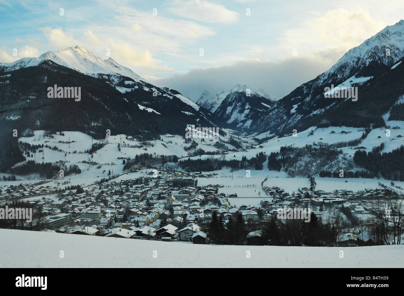 Austria: Winter sport at the 'Hohe Tauern' in the alps of East Tirol - Stock Image