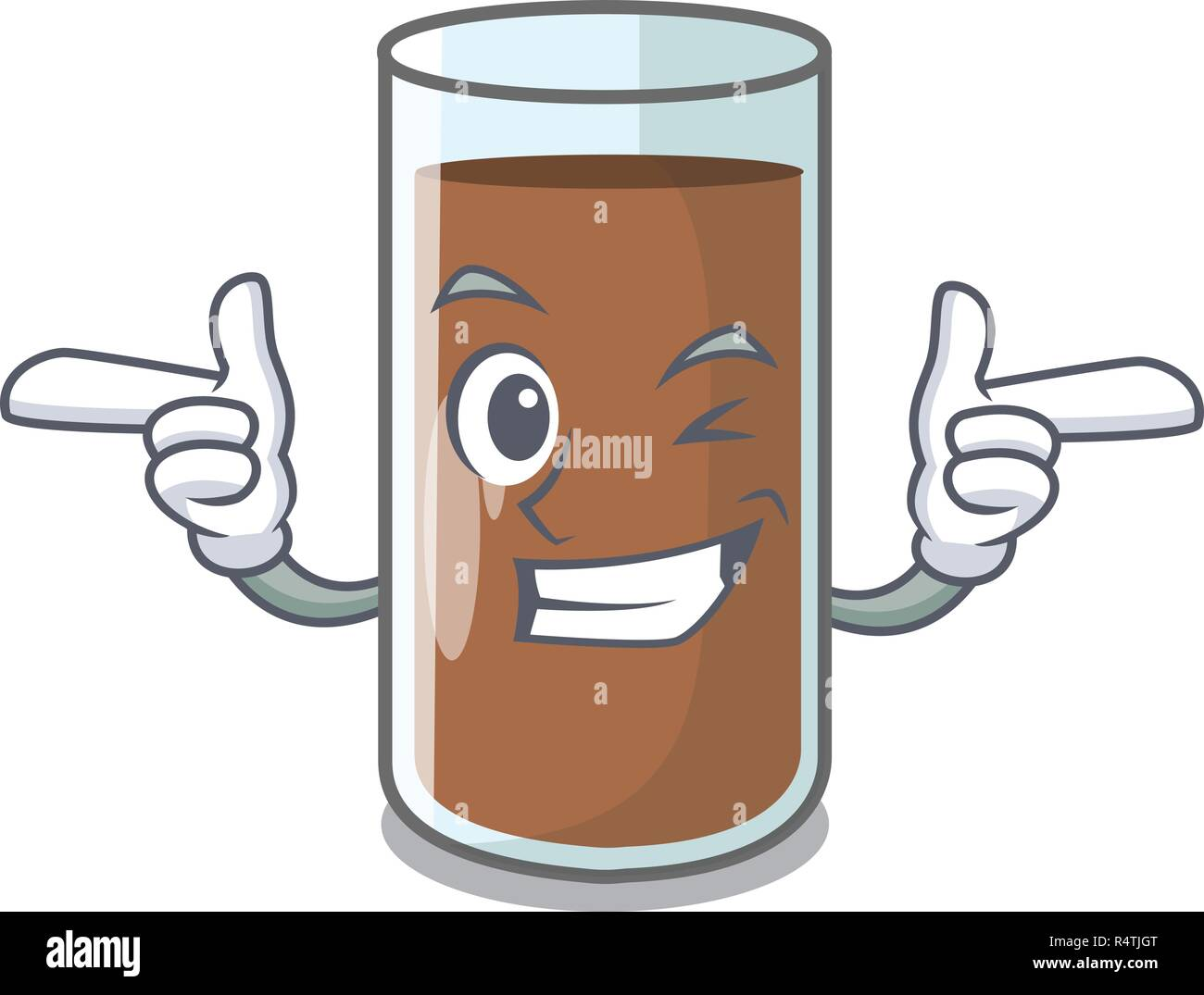 Wink chocolate milk the containing nutrition character - Stock Image
