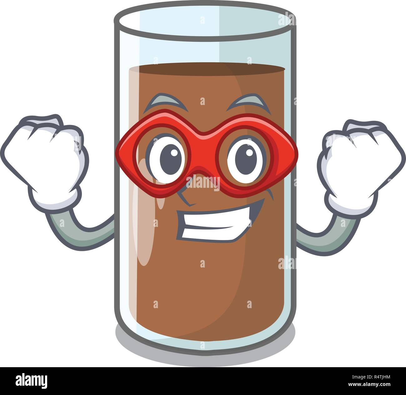Super hero chocolate milk the containing nutrition character - Stock Vector