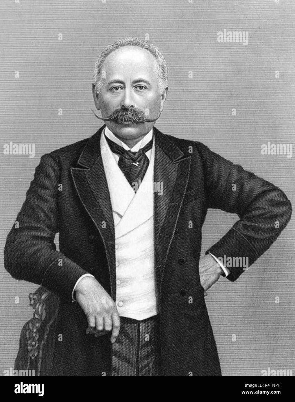 MAURICE de HIRSCH (1831-1896) German financier and philanthropist - Stock Image