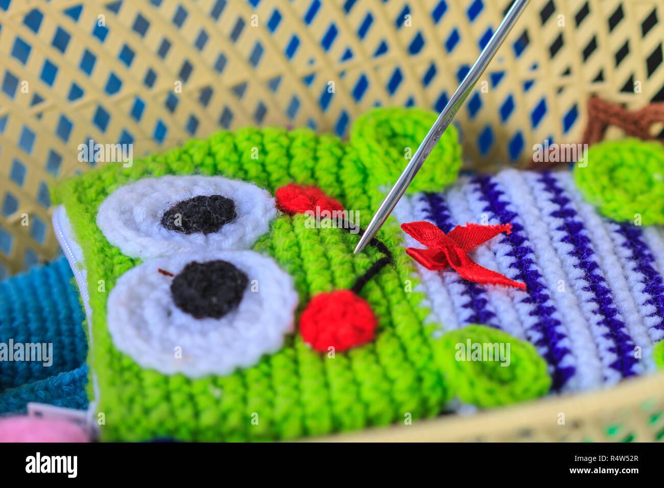 Crochet Hook Needle Handmade Art And Crafts Stock Photo Alamy