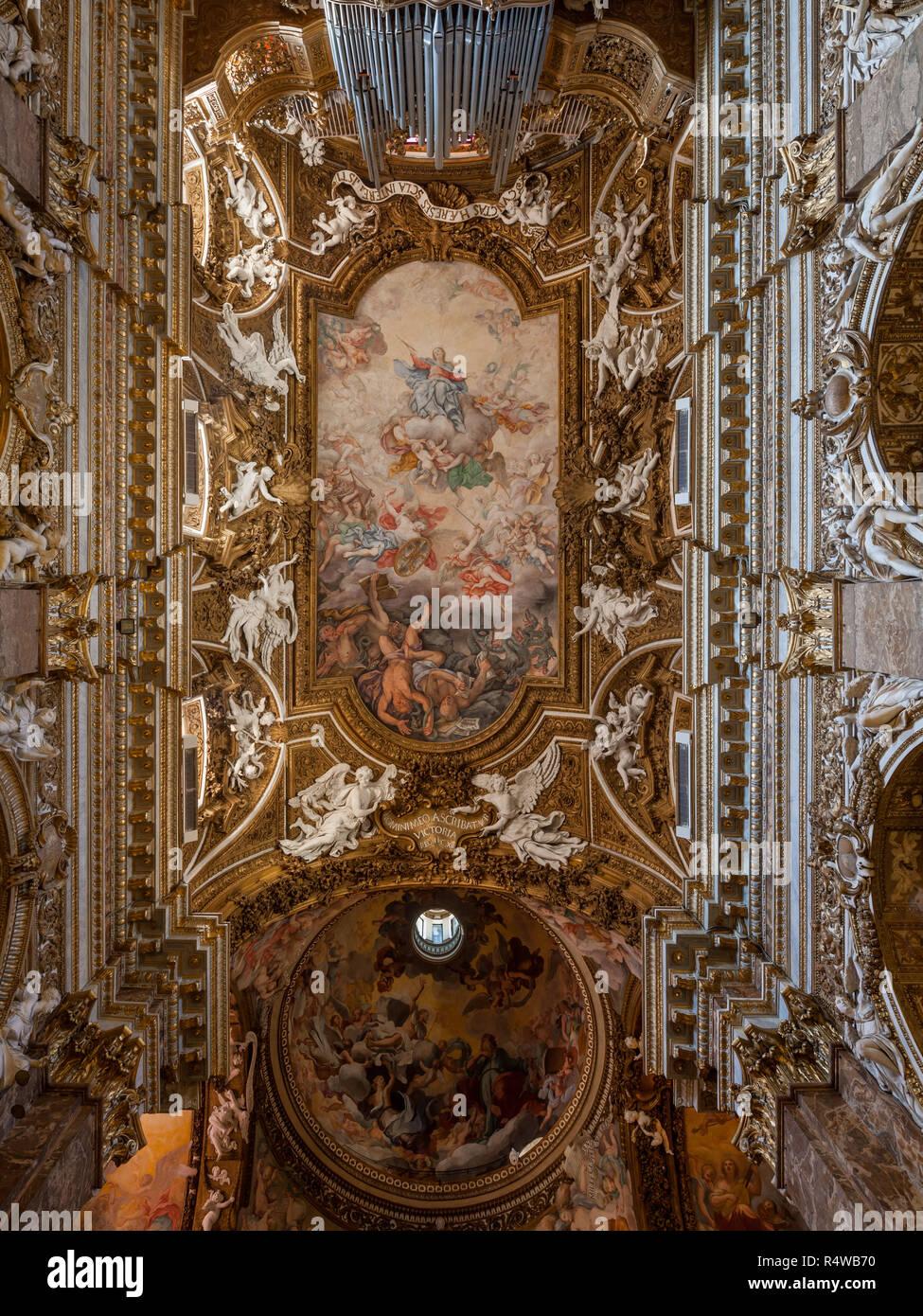 Santa Maria della Vittoria vault & dome, Rome, Italy - Stock Image