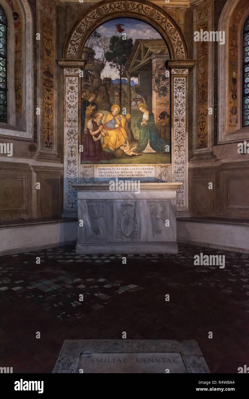 Della Rovere Chapel, Santa Maria del Popolo, Rome, Italy - Stock Image