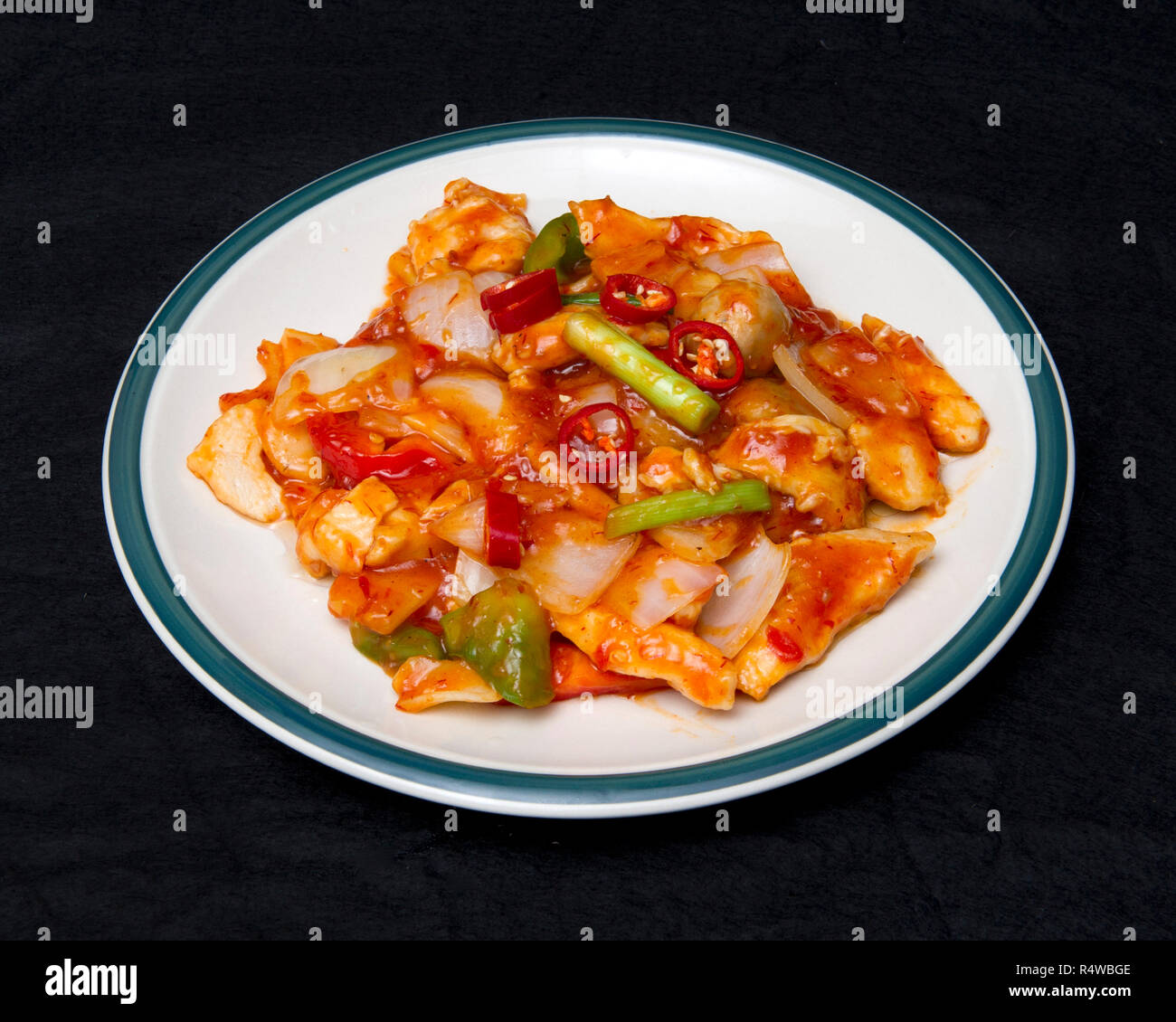 Chinese food, Szechuan chicken Stock Photo