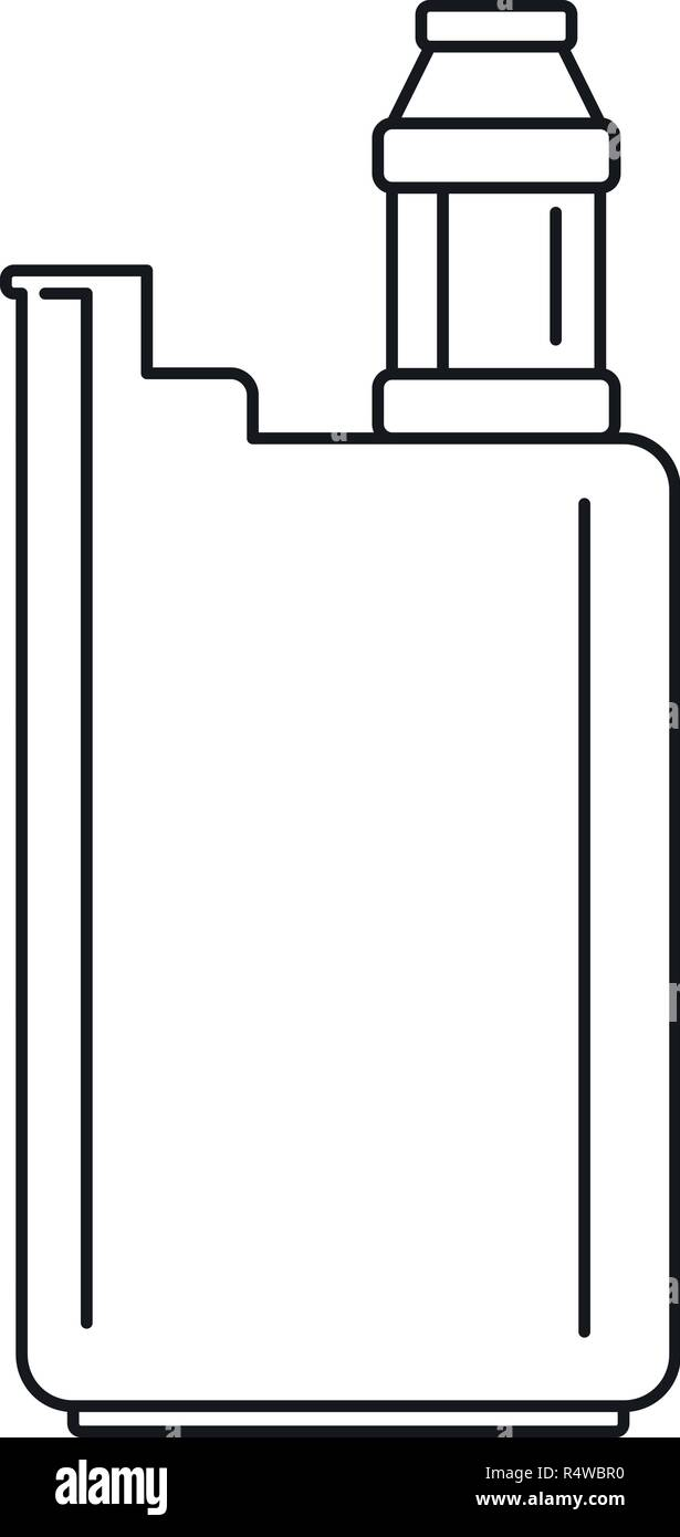 Vape box icon. Outline vape box vector icon for web design isolated on white background - Stock Image