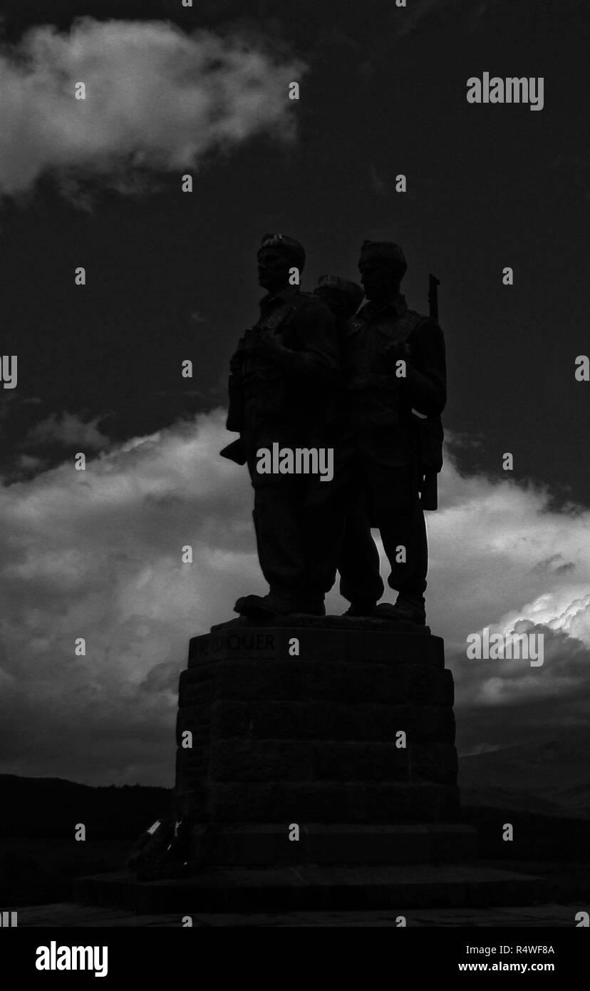 Commando Memorial - Stock Image