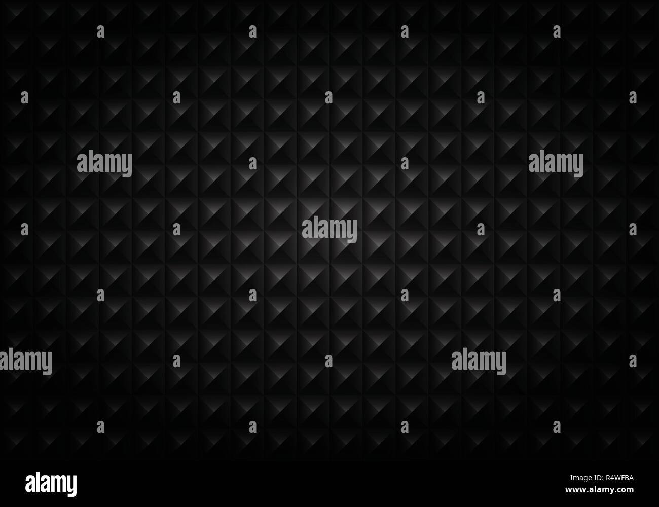 Abstract of gradient black square geometric pattern background, vector eps10 - Stock Image