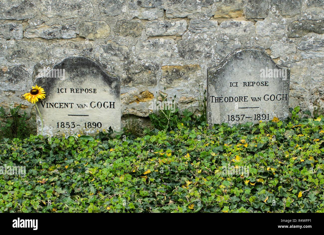 Grave of Vincent van Gogh in Auvers France