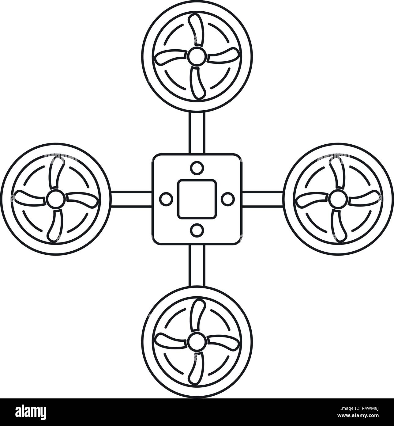 Spy drone icon. Outline spy drone vector icon for web design isolated on white background - Stock Vector