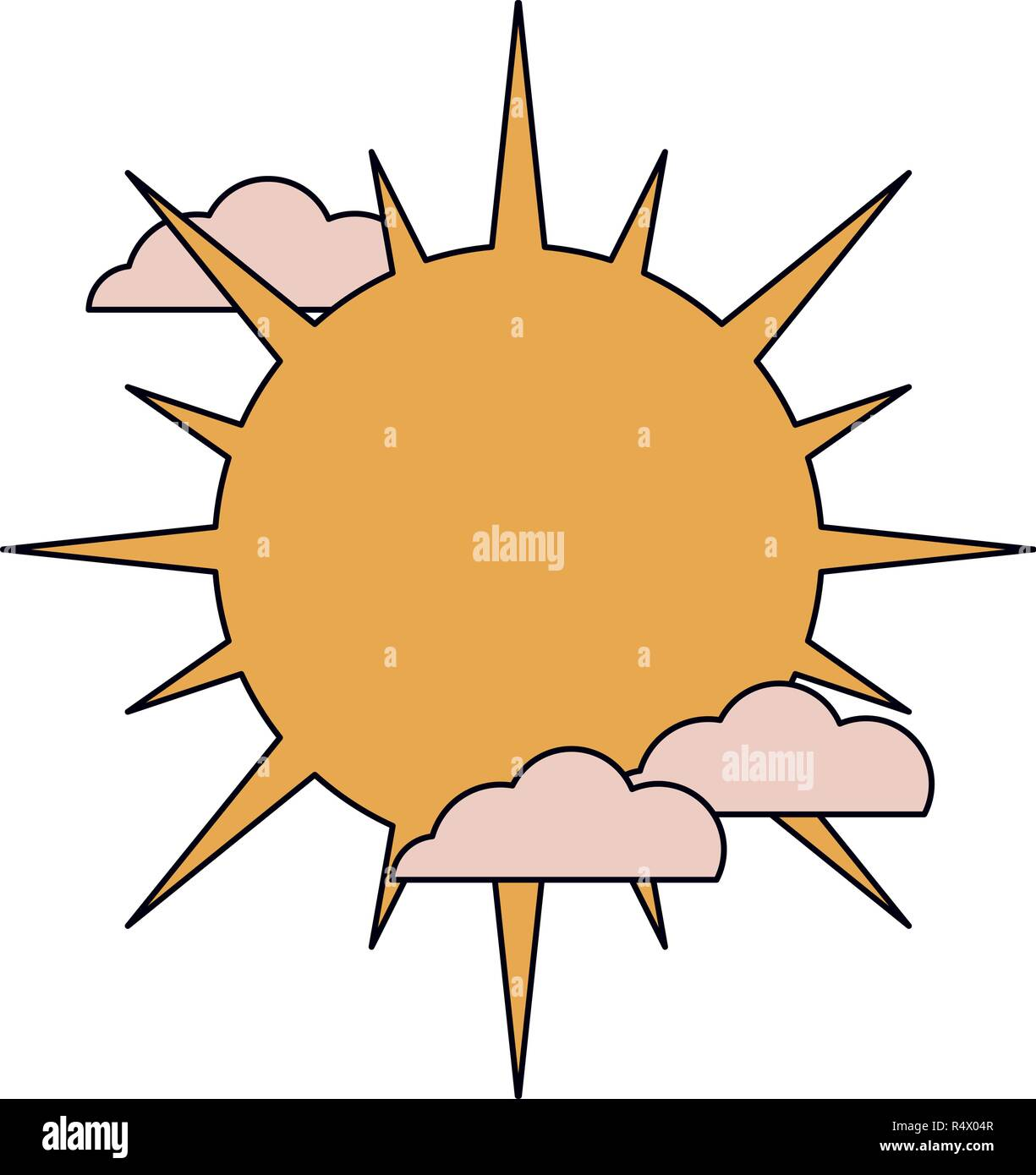 Sun and clouds - Stock Image