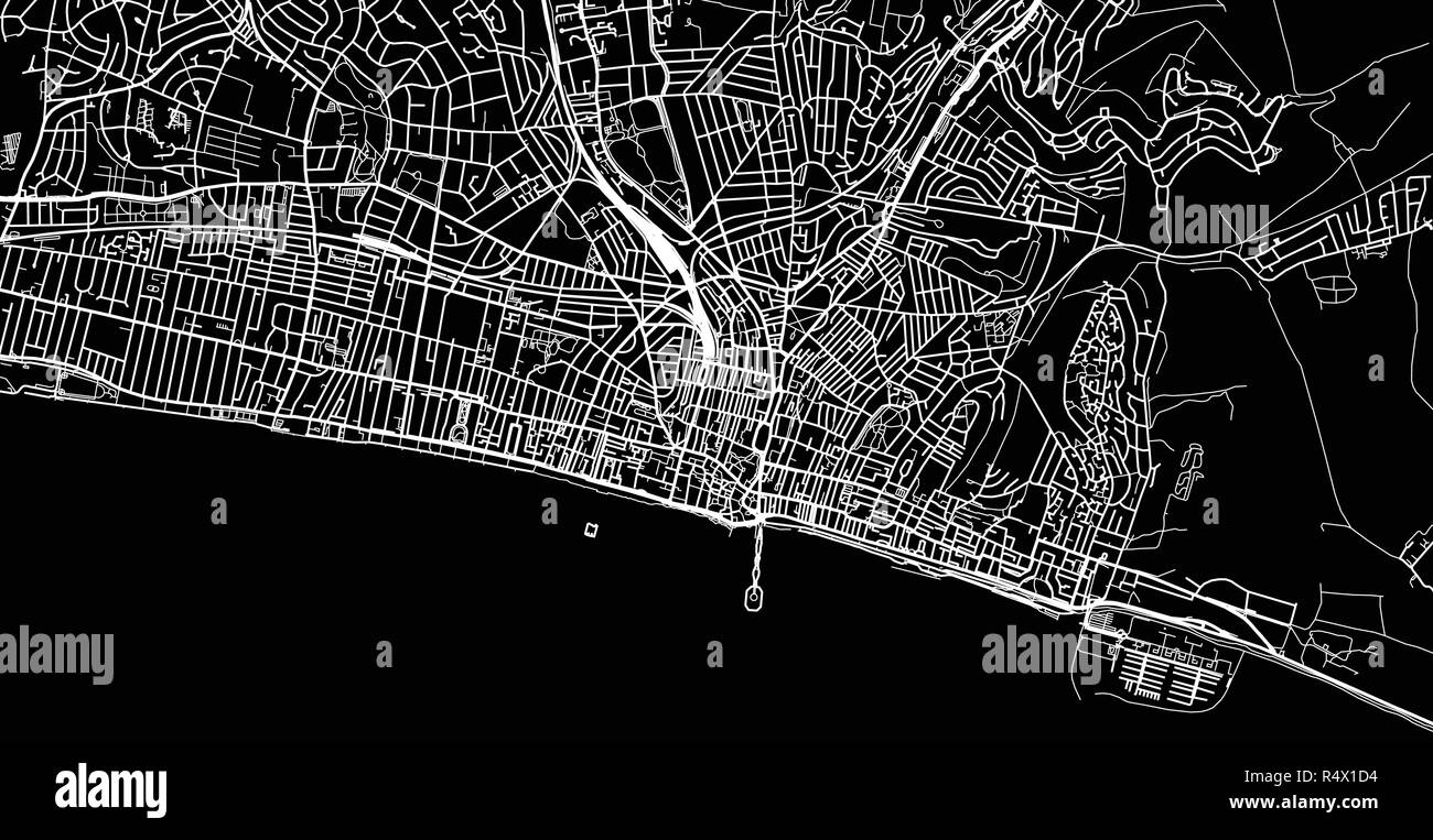 Uk Map Brighton Stock Vector Images Alamy
