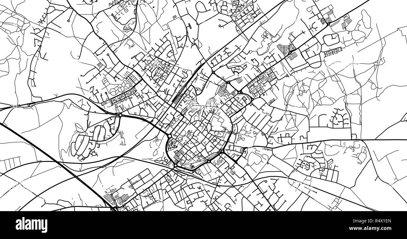 Urban Vector City Map Of Canterbury England Stock Vector Art