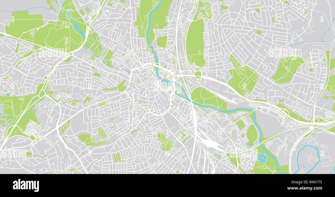 Urban Vector City Map Of Derby England Stock Vector Art