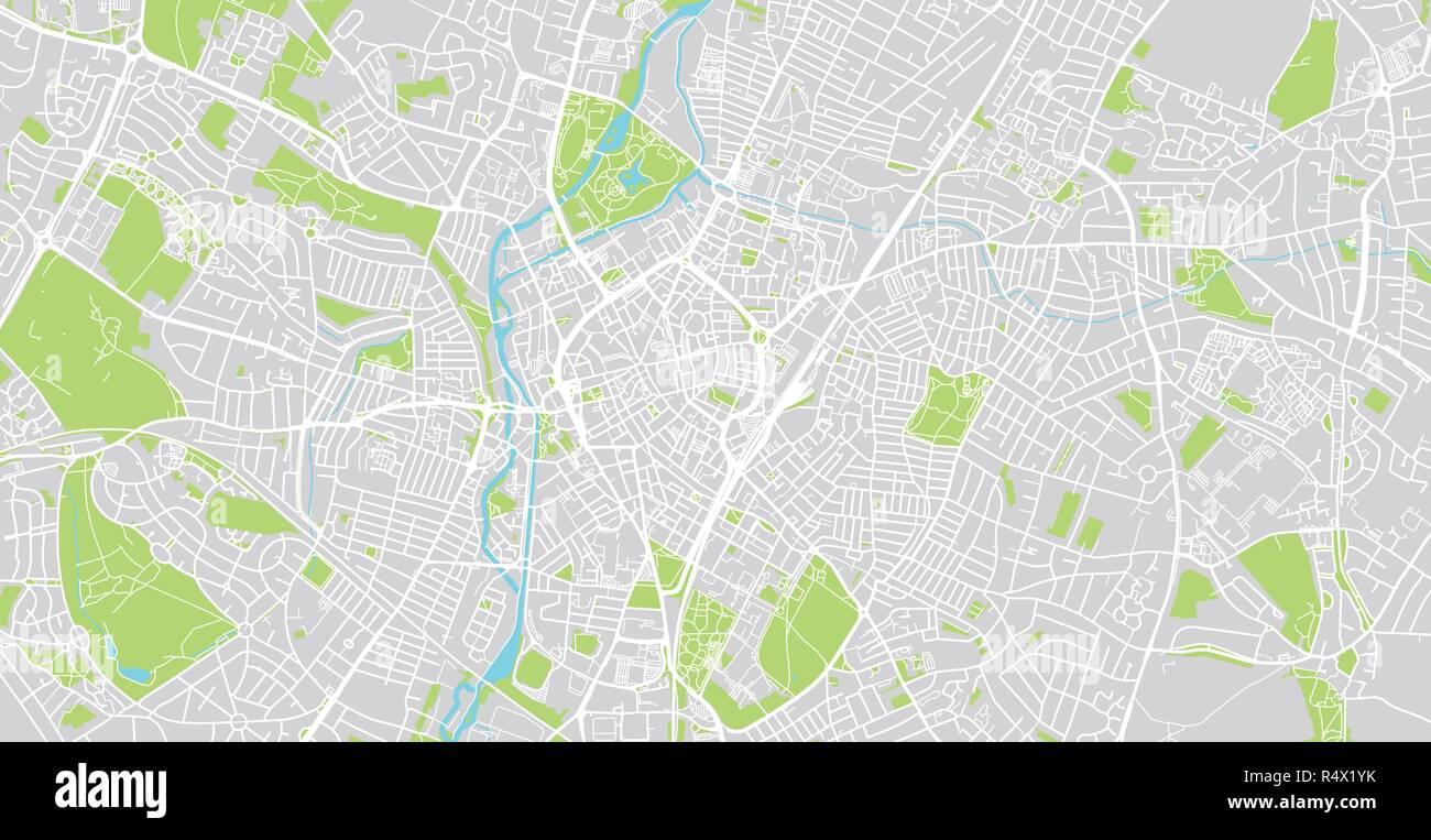 Urban Vector City Map Of Leicester England Stock Vector Art