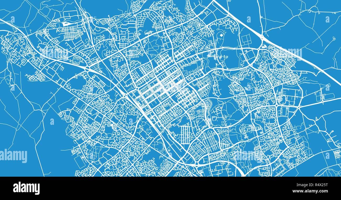 Map Of England Milton.Urban Vector City Map Of Milton Keynes England Stock Vector Art