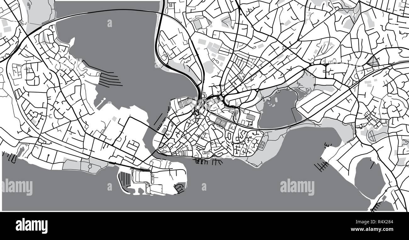 Poole England Map.Urban Vector City Map Of Poole England Stock Vector Art