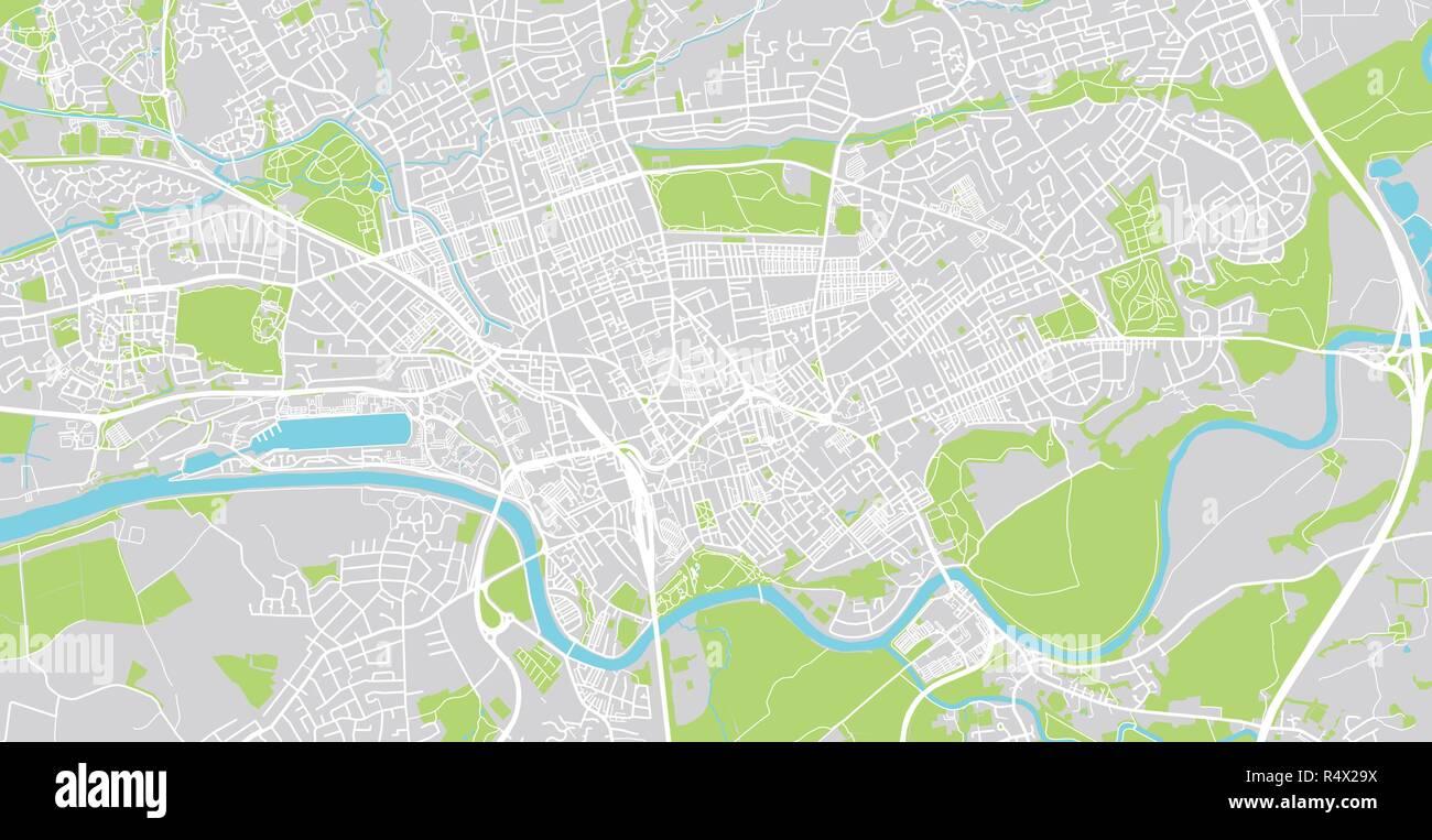 Preston England Map.Urban Vector City Map Of Preston England Stock Vector Art