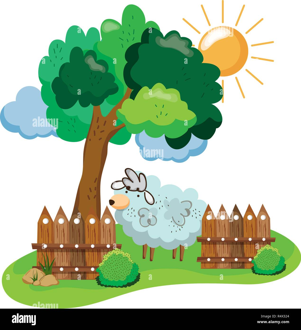 Cute Farm Sheep With Tree Cartoon Vector Illustration Graphic Design Stock Vector Image Art Alamy Some trees can live up to several drawing trees might not seem so difficult at first. https www alamy com cute farm sheep with tree cartoon vector illustration graphic design image226766572 html