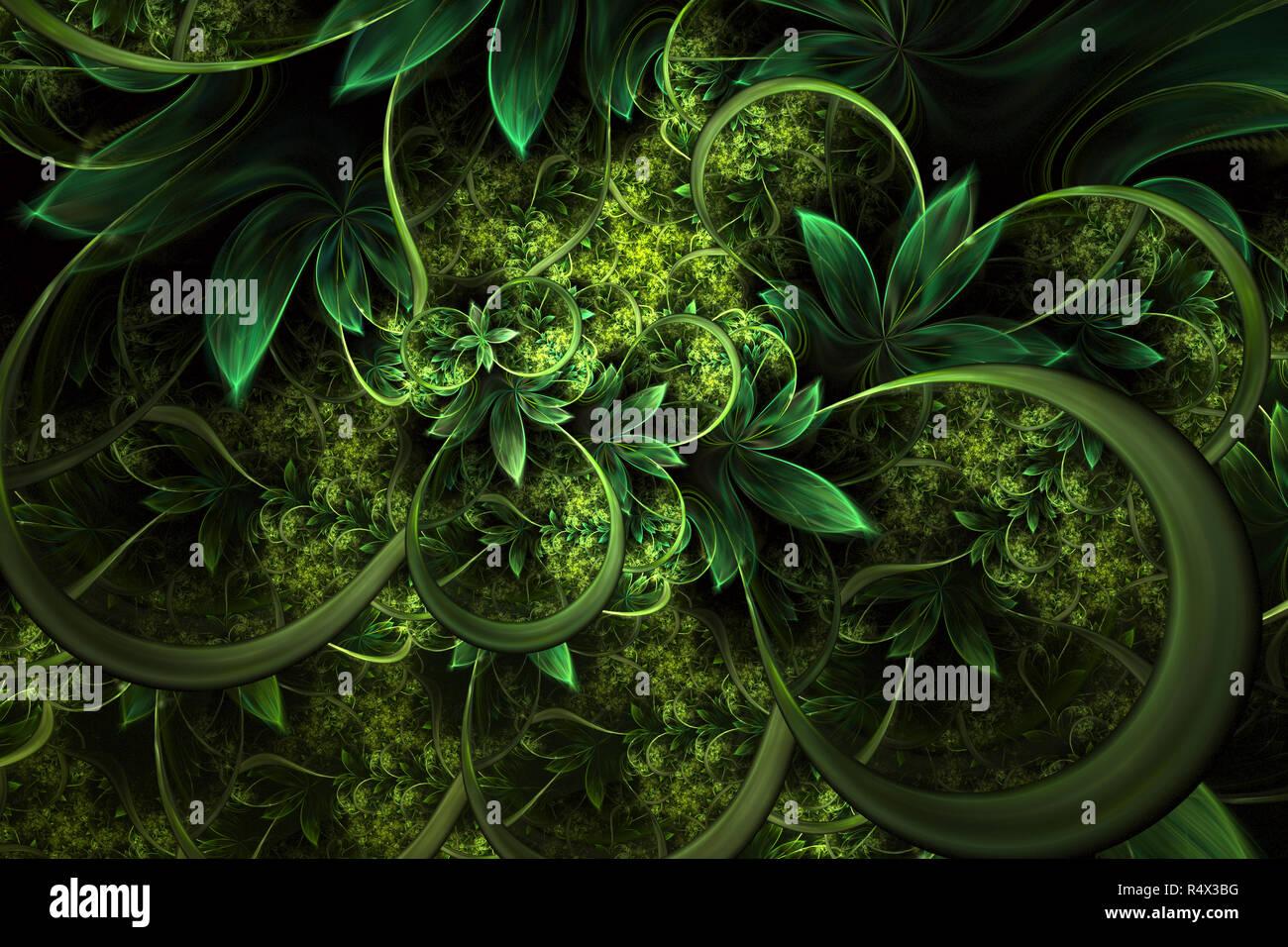 Abstract Computer Generated Plant Fractal Design Digital Artwork For Tablet Background Desktop Wallpaper Or For Creative Cover Design Stock Photo Alamy
