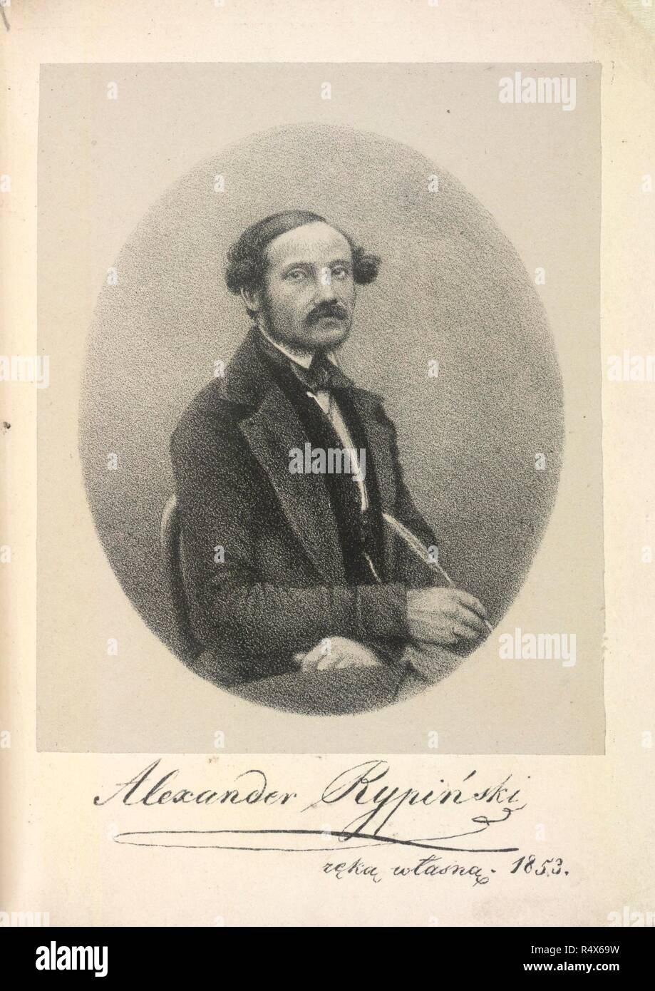 Alexander Rypinskii. Polish soldier and poet. Portrait. Lieutenant A. Rypinski's three short Polish poems on the last war with Russia. Translated into English by H. J. Daniel... London, 1856. Source: 11585.a.37. Language: English. Author: Radwan Rypinski, Aleksander. Stock Photo