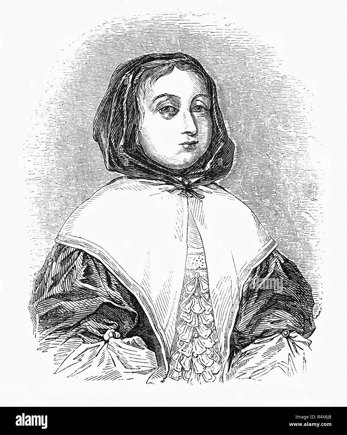 Elizabeth Cromwell (née Bourchier; 1598–1665) was the wife of Oliver Cromwell, Lord Protector of England, Scotland and Ireland. She married Oliver Cromwell on 22 August 1620 at St Giles, Cripplegate, London. The marriage to Elizabeth was very advantageous for Cromwell, as her father brought him into contact with the wealthy merchant community of London, and due to the extensive lands Sir James owned in Essex, this family association would later guarantee him much support from the influential families of the local puritan gentry. - Stock Image