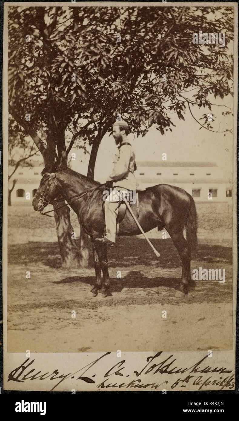 Portrait Taken 5 Apr 1863 Carte De Visite Visiting Card Equestrian Of Henry LA Tottenham India 5th April Source Photo 214 15