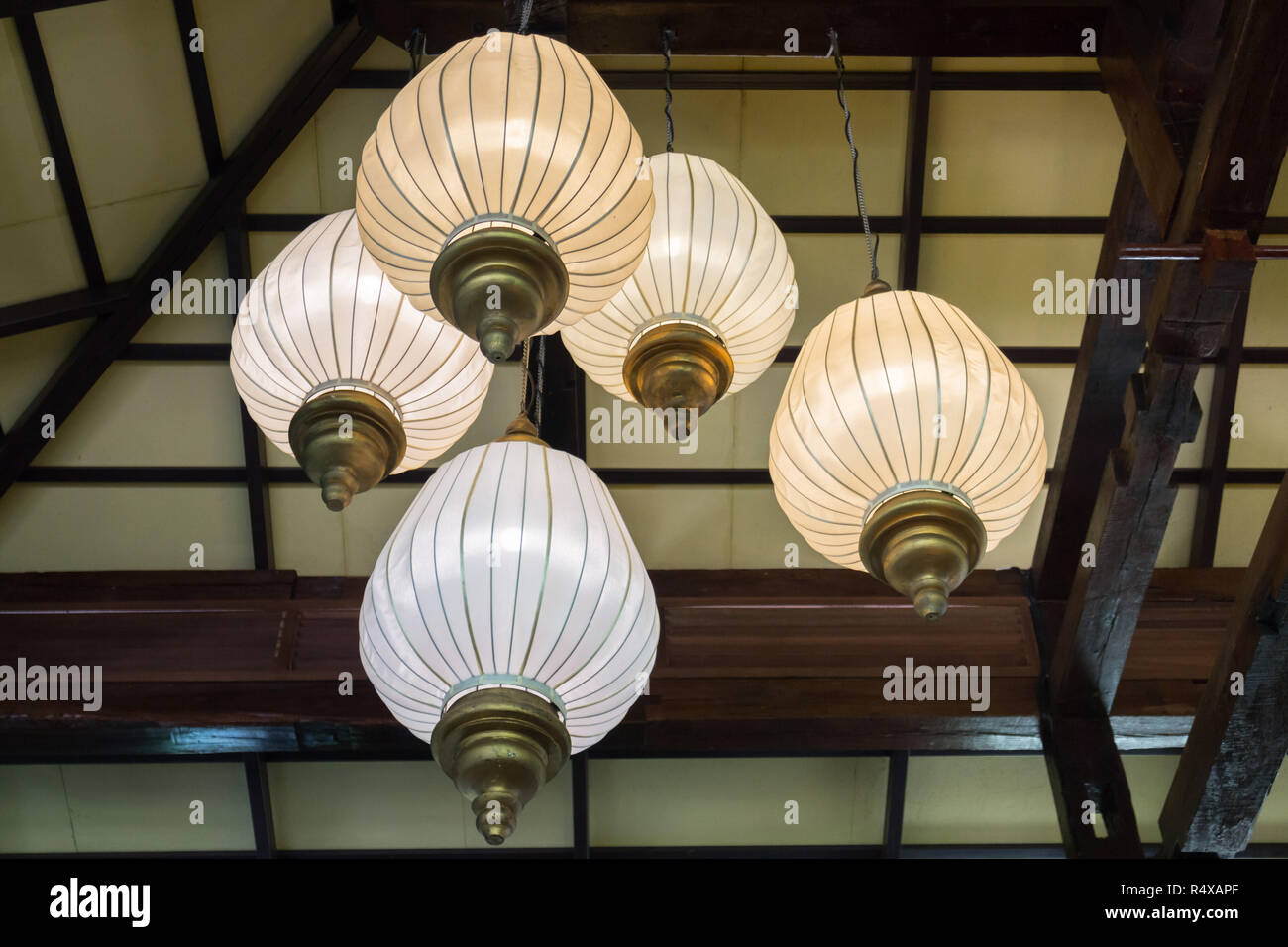 Interior Decorating Hanging Lantern Lamps - Stock Image
