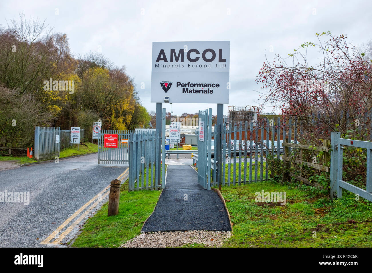 Amcol Minerals Europe Ltd in Winsford Cheshire UK - Stock Image