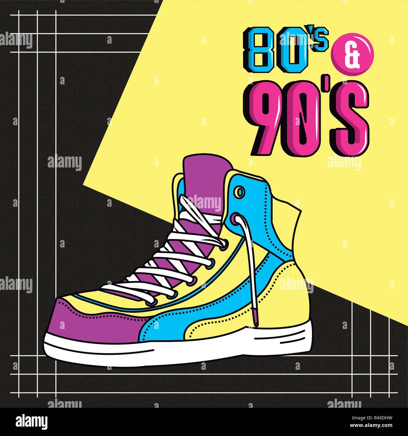 eighties and nineties style - Stock Image