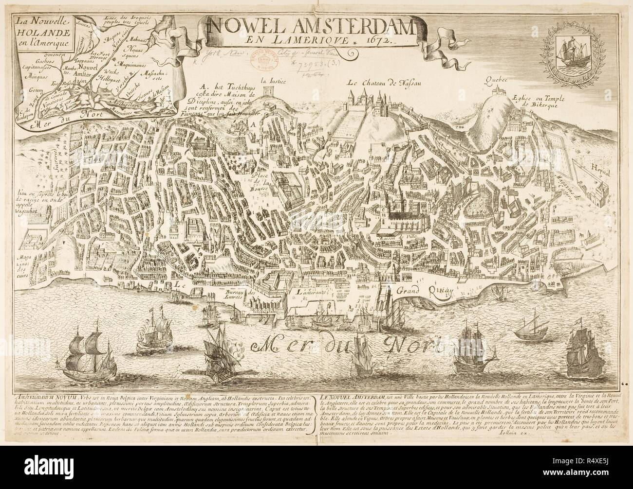 Map of New Amsterdam (New York) in 1672 and then in 1729