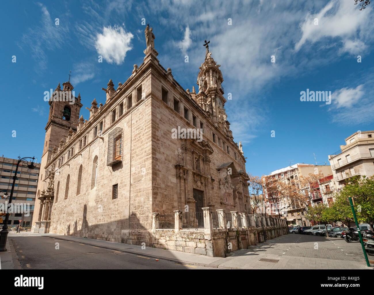 Església de Sant Joan del Mercat Valencia Spain Iglesia de los Santos Juanes - Stock Image