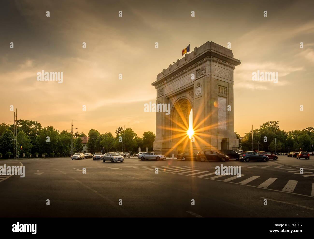 Arch of Triumph Bucharest Romania Arcul de triumf - Stock Image