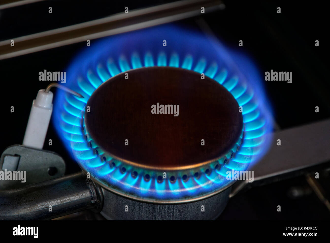 Gas ring flames. - Stock Image