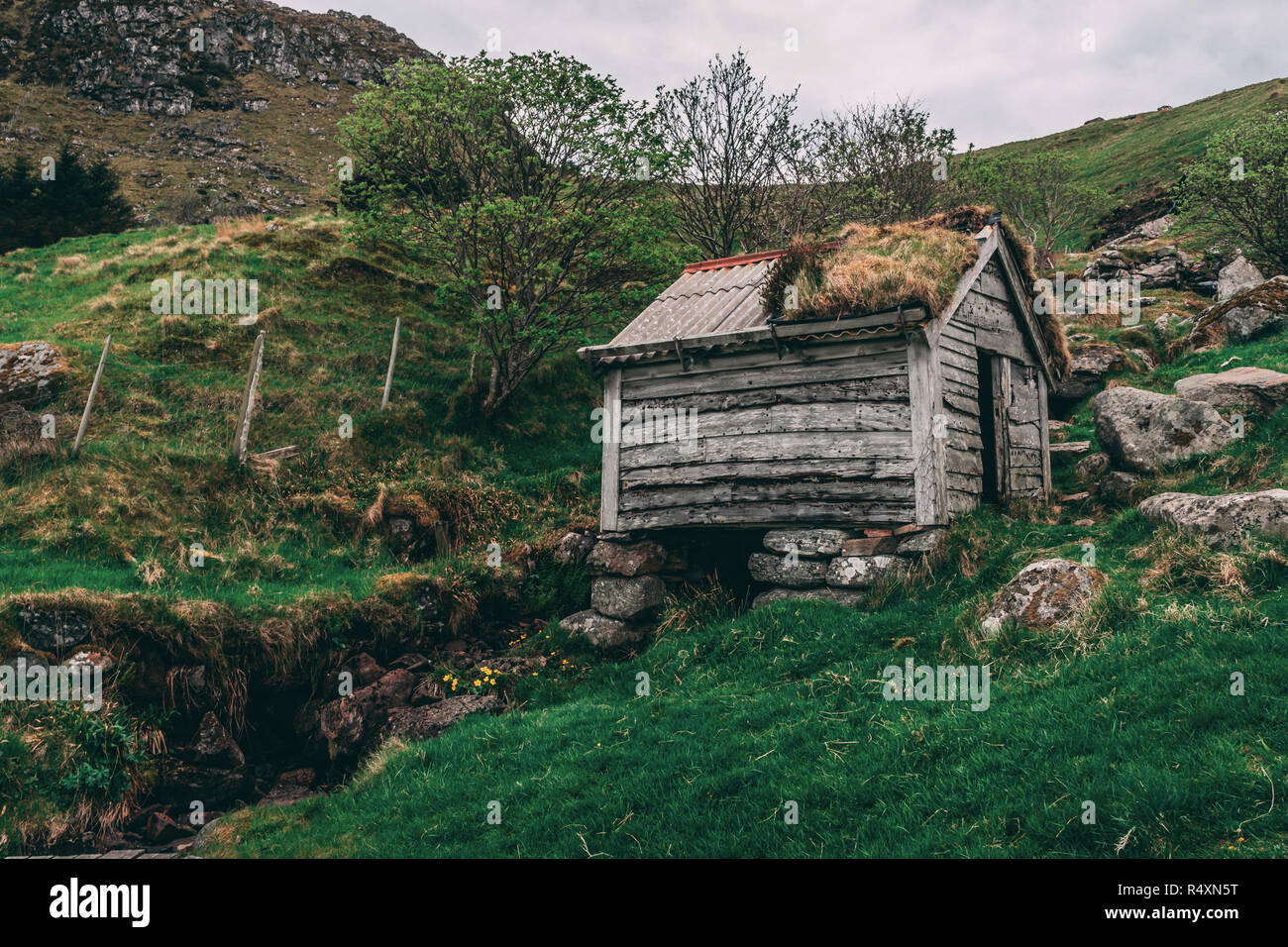 Old Hut - Stock Image