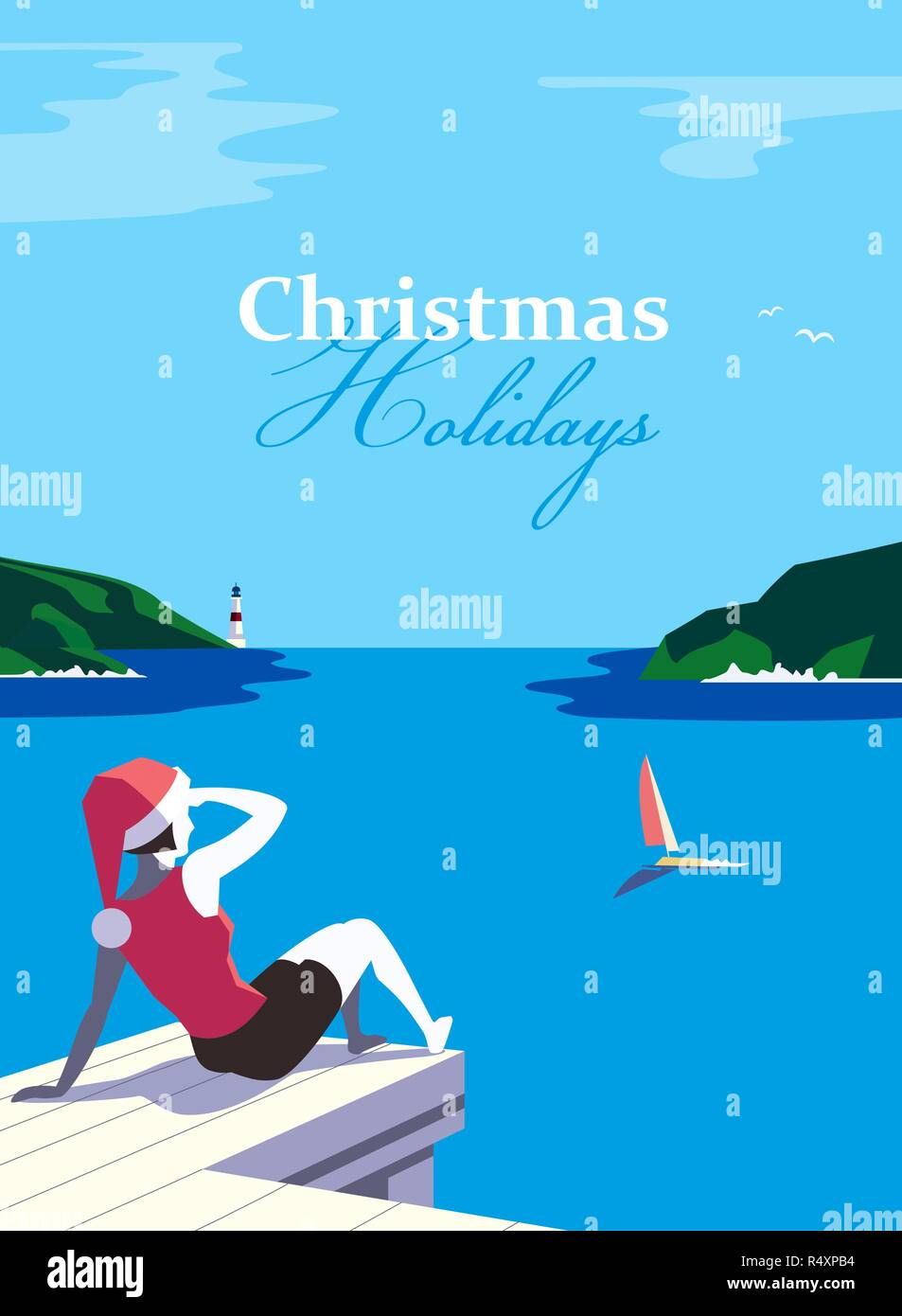 Christmas vacation poster - Stock Vector