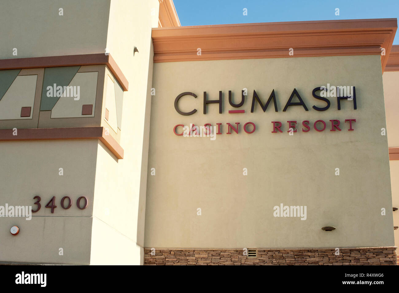 Chumash Casino Resort, Santa Ynez Reservation, California. Digital photograph - Stock Image