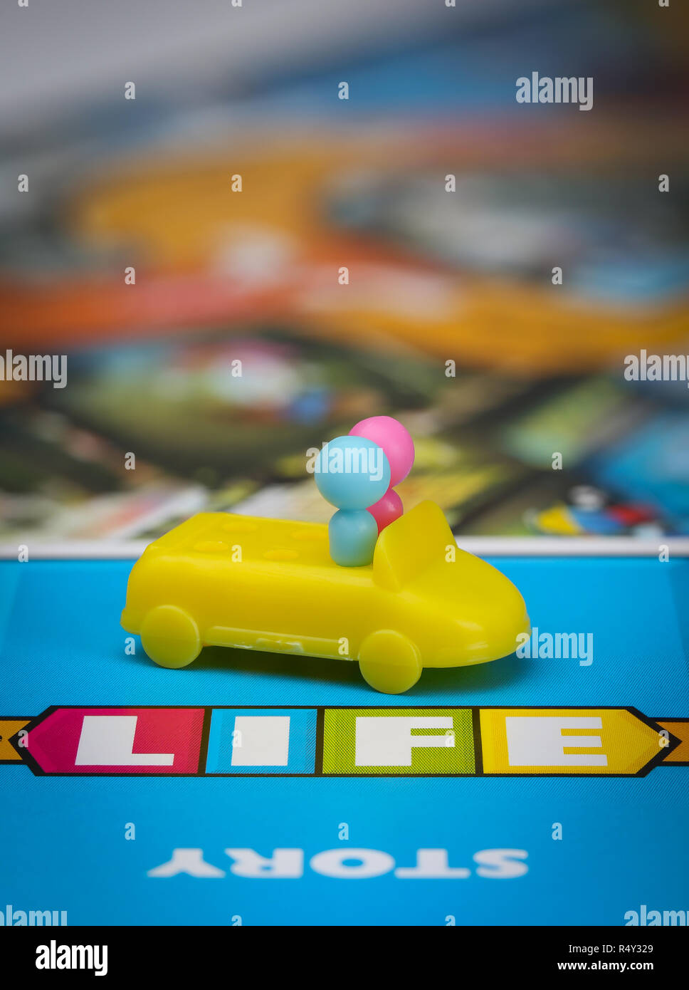 Game of Life board game - Stock Image