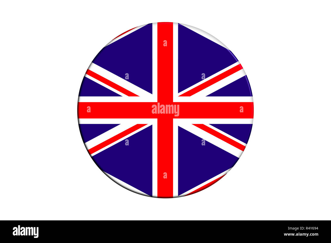 3 D Cover with Union Jack. Isolated white background. - Stock Image