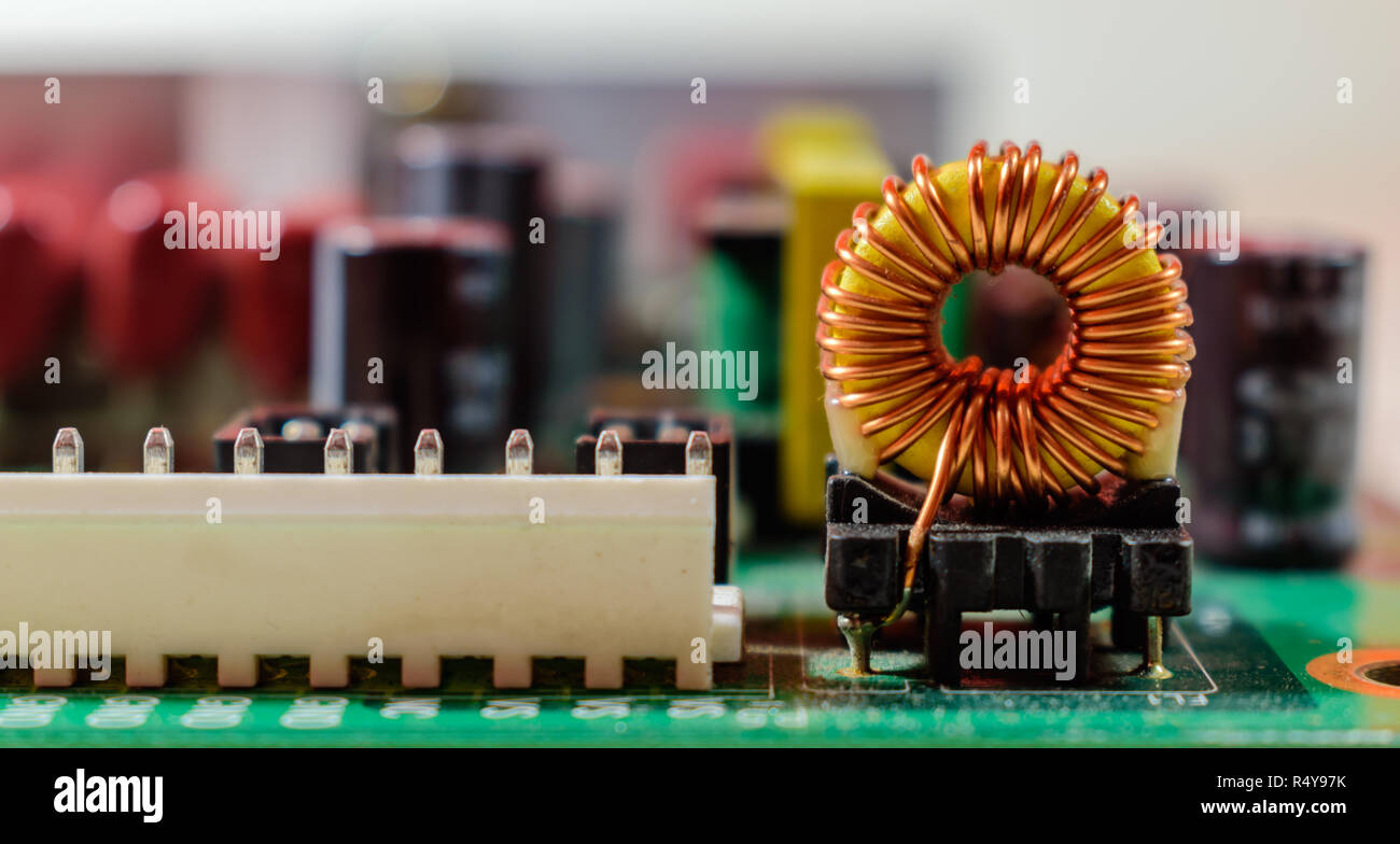 Inductor Stock Photos Images Alamy Simple Circuit Electronic On Board Image