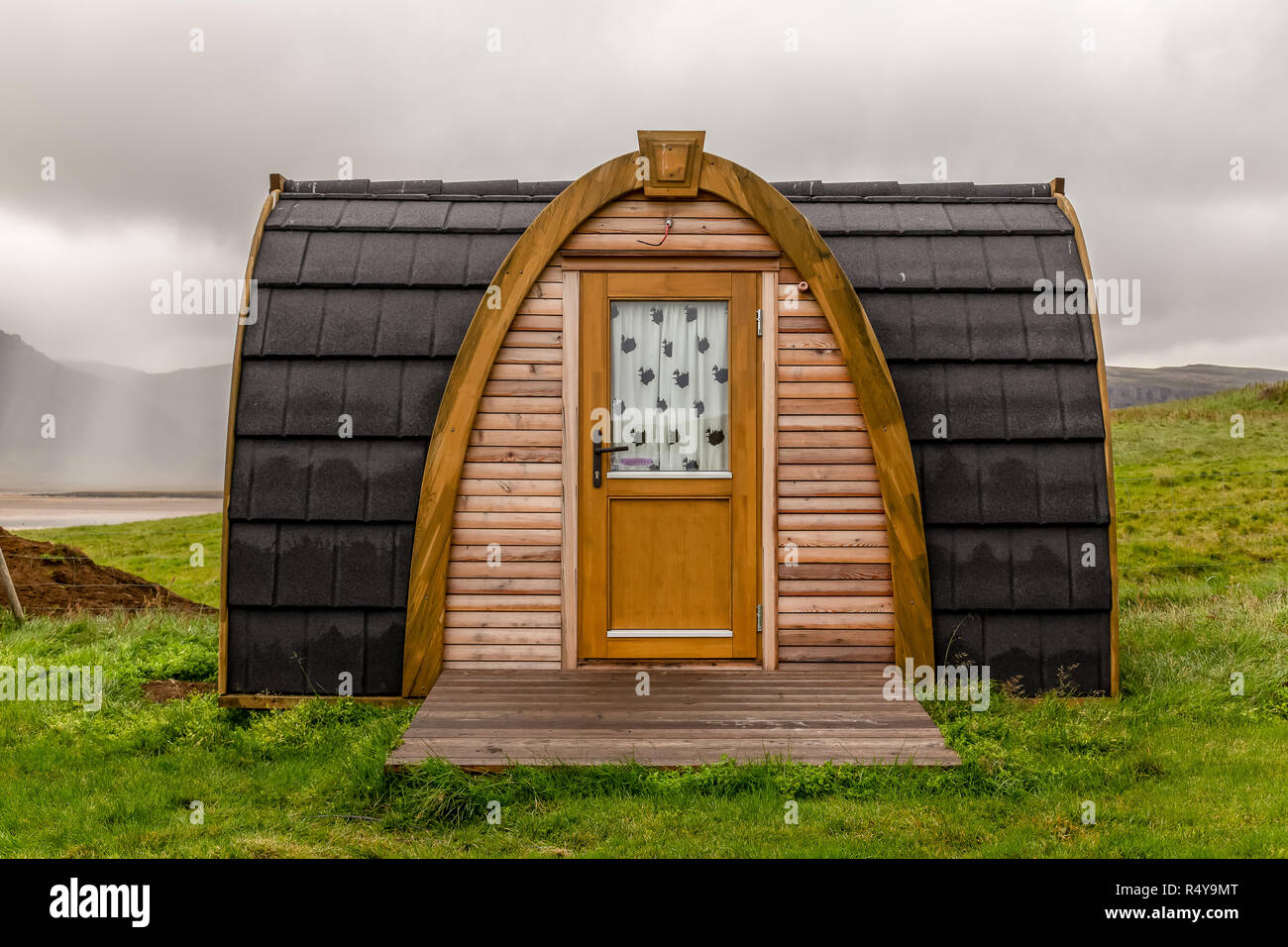 A beach hut in Iceland. - Stock Image