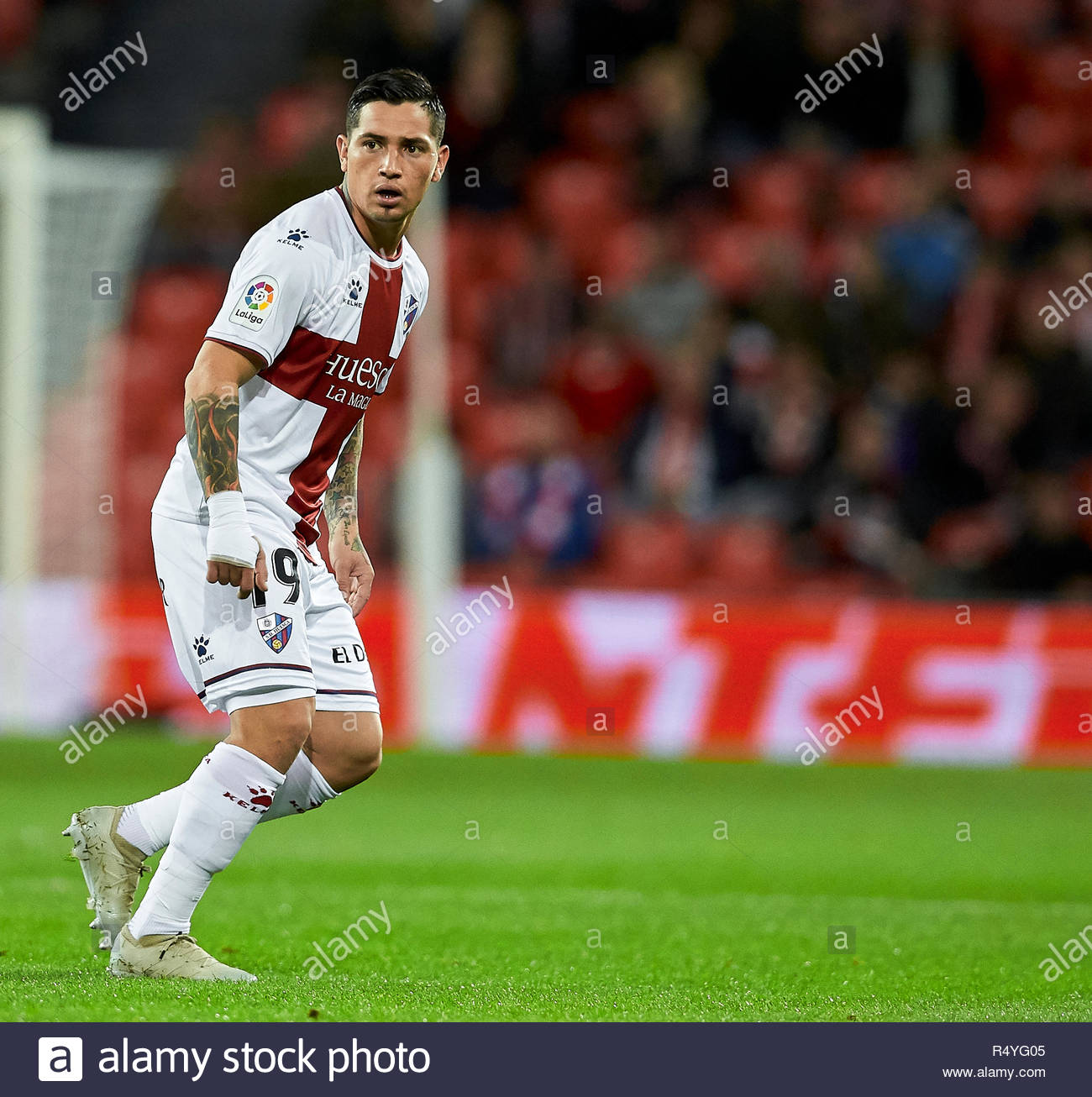 Bilbao, northern Spain, Wednesday, November, 28, 2018. (9) Cucho Hernandez during the Spanish Copa del Rey soccer match between Athletic Club Bilbao and S.D Huesca at San Mames stadium. Credit: Ion Alcoba Beitia/Alamy Live News - Stock Image