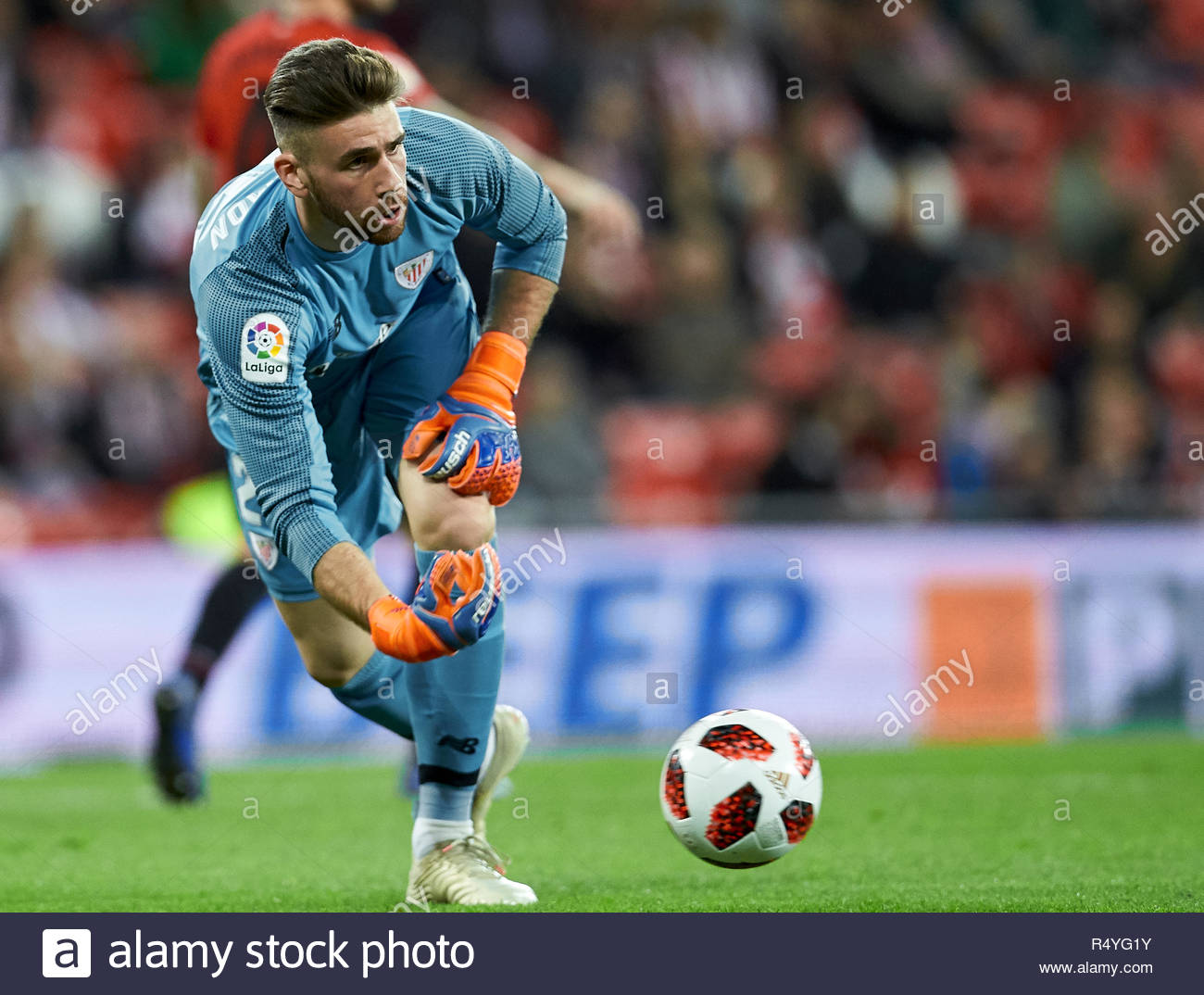 Bilbao, northern Spain, Wednesday, November, 28, 2018. (25) Unai Simon during the Spanish Copa del Rey soccer match between Athletic Club Bilbao and S.D Huesca at San Mames stadium. Credit: Ion Alcoba Beitia/Alamy Live News - Stock Image